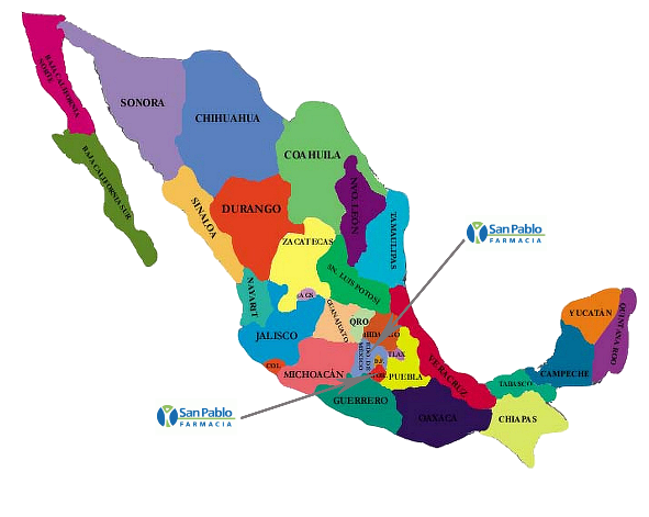 Mapa Mexico - BreastlightMEX.com